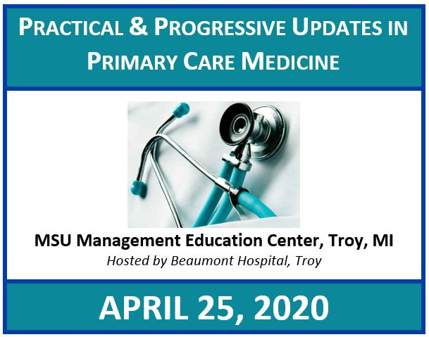 Practical and Progressive Updates in Primary Care Medicine 2020 Banner