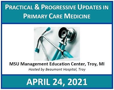 Practical and Progressive Updates in Primary Care Medicine 2021 Banner