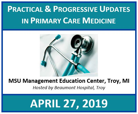 Practical and Progressive Updates in Primary Care Medicine 2019 Banner